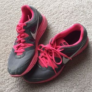 Nike Lunarfly 3, size 9.5, pink and grey